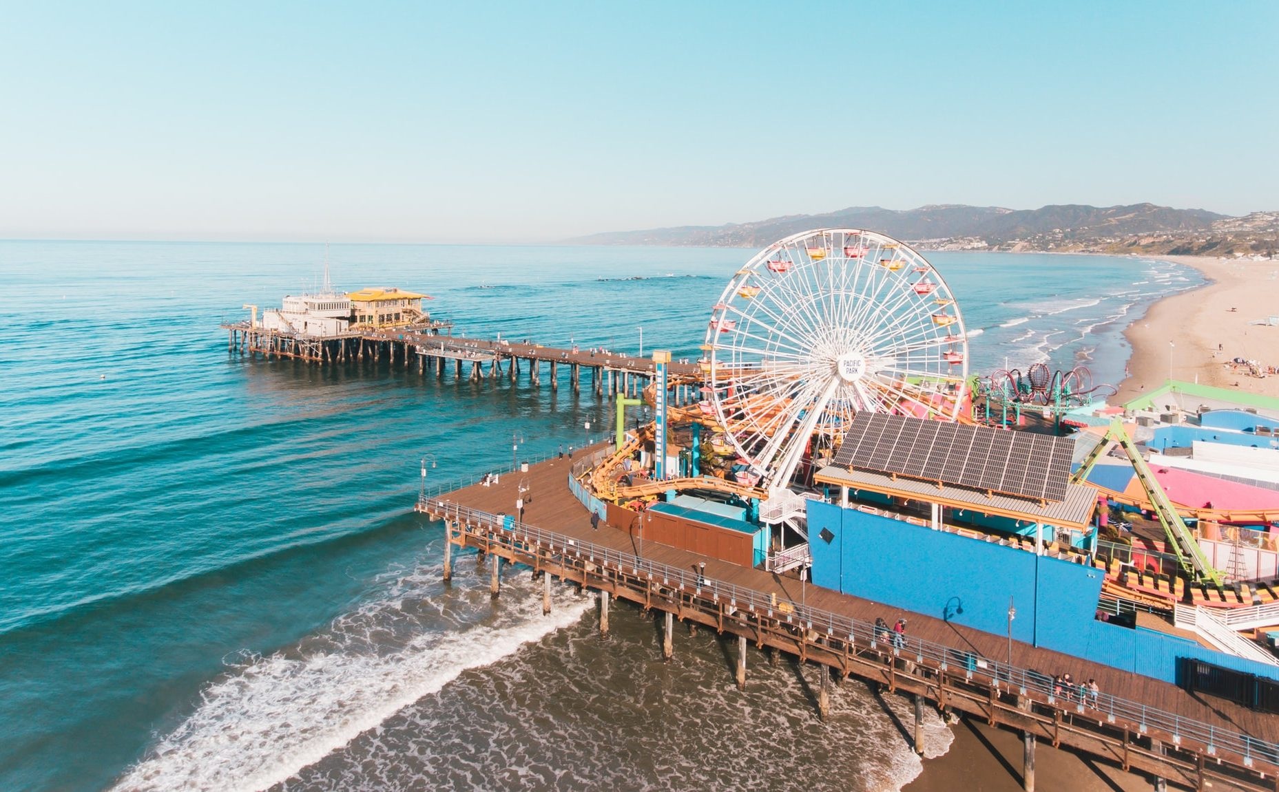 Santa Monica Pier with Ferris wheel