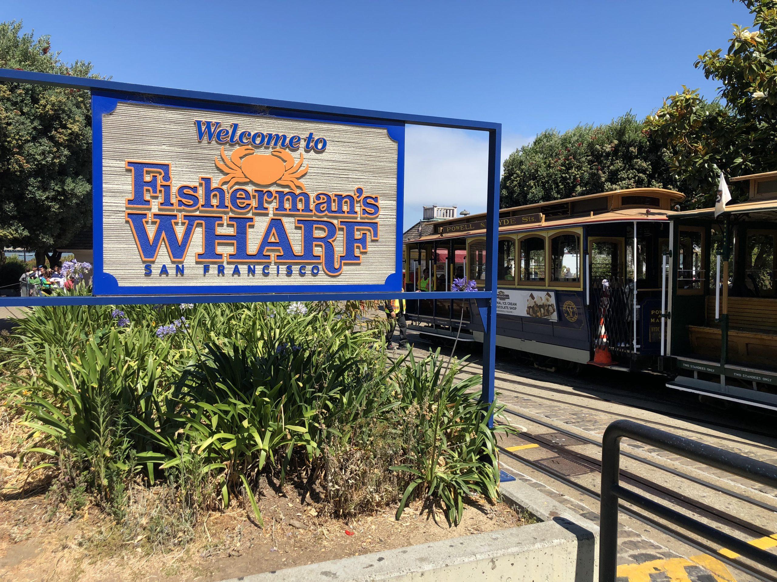 Cable car at Fisherman's Wharf