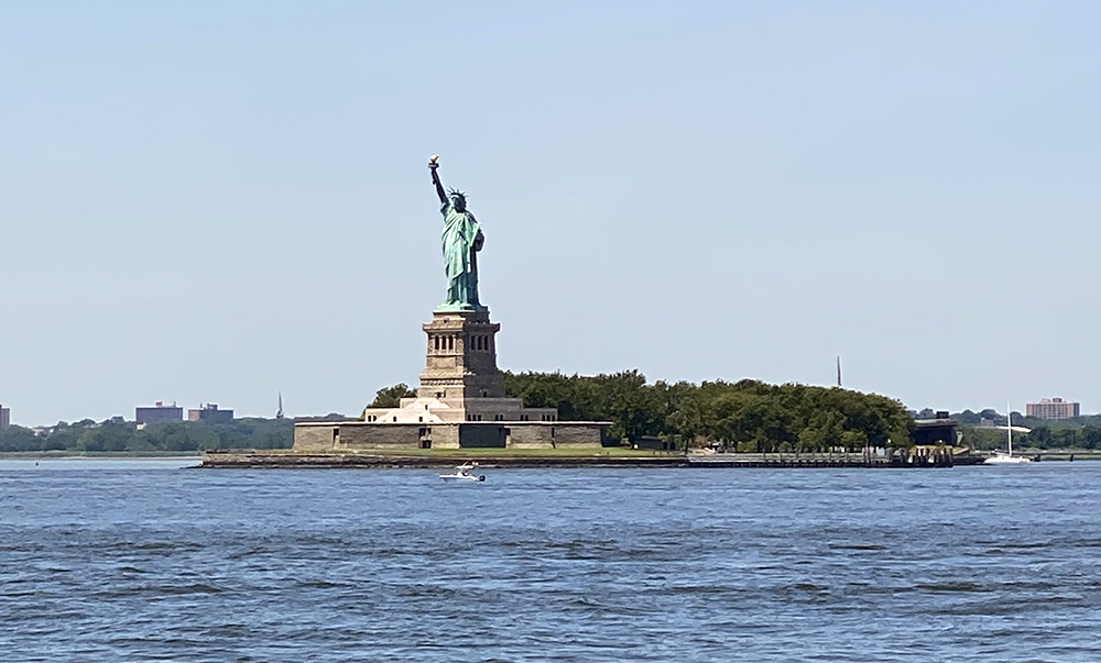 View of Statue of Liberty from Governors Island