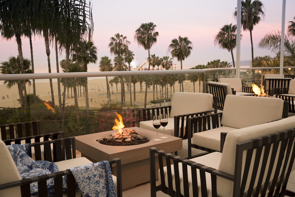 Loews Santa Monica Beach Hotel in December
